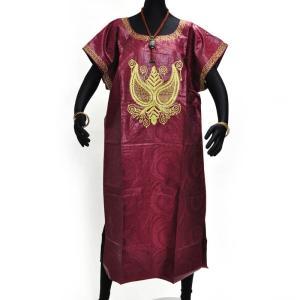 ○バザン 刺繍付ワンピース(アフリカ民族衣装)|afromode