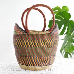 ◎ブルキナバスケットVariante(アフリカ かごバッグ マルシェバッグ) afromode