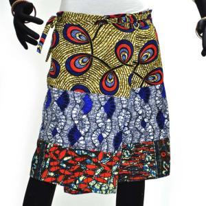 ○パッチワーク 腰巻きスカート (アフリカン パーニュ ボトムス)|afromode