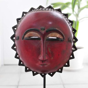◎バウレ族マスク(アフリカ 仮面 アート作品)|afromode
