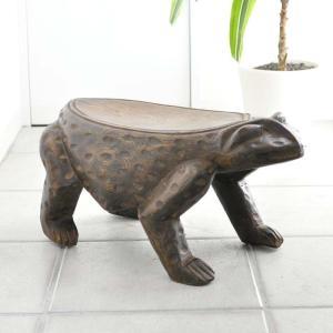 ◎ボボ族カエル腰掛(アフリカの家具、スツール,椅子) afromode