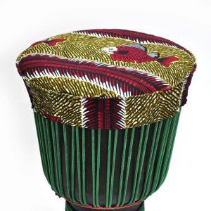 ○ギニア製 ジャンベ ヘッド カバー(キャップ)Lサイズ(外径38cmまで)|afromode