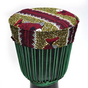 ○ギニア製 ジャンベ ヘッド カバー(キャップ)MSサイズ(外径33cmまで)|afromode