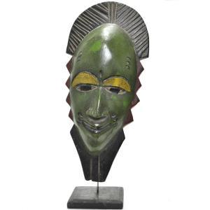 ◎パスポートマスクLサイズ《台付》(アフリカ アート 仮面 インテリア)|afromode
