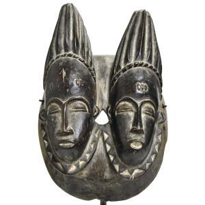 ◎バウレ族双子マスク(アフリカン 仮面 アート)|afromode