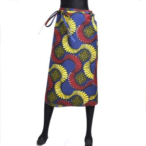 ○アフリカン 腰巻き スカート (1枚布 パーニュ レディースボトムス)|afromode