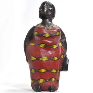 ●アフリカンマダム コロン人形 15cm(アフリカ インテリア 彫刻)|afromode