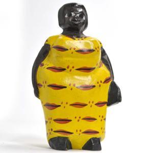 ●アフリカンマダム コロン人形 13cm(アフリカ インテリア 彫刻)|afromode