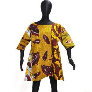 ○アフリカン ドロップショルダー ブラウス(レディース シャツ)|afromode