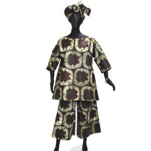 ●レディース上下セット(大型ヘアバンド2枚付)(アフリカン民族衣装)|afromode
