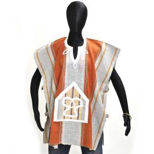 ○セヌフォ族 ポンチョ シャツ(アフリカ民族衣装シャツ)|afromode