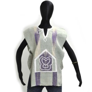 ○セヌフォ族 ポンチョ シャツSサイズ(アフリカ民族衣装シャツ)|afromode