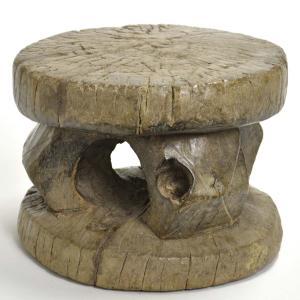 ◎セヌフォ族腰掛(幅:20cm)(アフリカの家具、スツール、椅子)|afromode