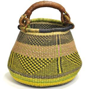 ◎ブルキナバスケット 下膨れ型(アフリカ ボルガ かご) afromode