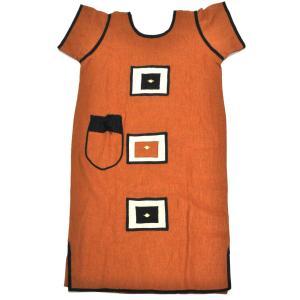 ●麻 ワンピース (アフリカン エスニック ファッション)|afromode