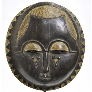 ◎バウレ族「月」マスク(アフリカンアート 仮面)|afromode