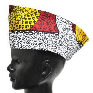 ○アフリカン メンズ シャポー・キャップ 帽子( フリーサイズ:56〜60cm対応)|afromode