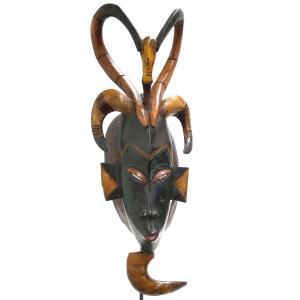 ◎グロ族マスク(58cm)(アフリカン 仮面 アート)|afromode