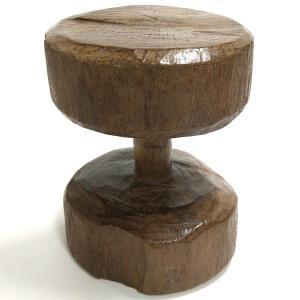 ◎ダン族アンティーク腰掛(径:25cm)(アフリカの家具、スツール、椅子)|afromode