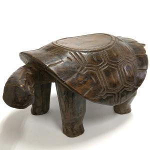 ◎ボボ族亀腰掛(アフリカの家具、スツール、椅子)|afromode