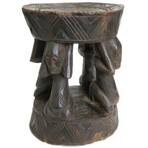 ◎バンバラ族腰掛(高さ:38cm)(アフリカの家具、スツール、椅子)|afromode