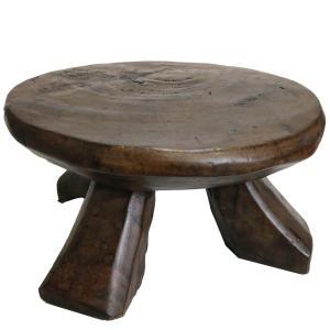 ◎バミレケ族アンティークテーブル(幅53cm 高さ28cm)(アフリカのテーブル スツール 家具)|afromode