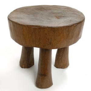 ◎ロビ族アンティーク腰掛(径:24cm)(アフリカの家具、スツール、椅子)|afromode