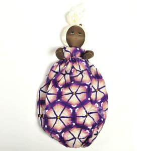 ●(レジ袋 収納)アフリカ マダム 人形|afromode