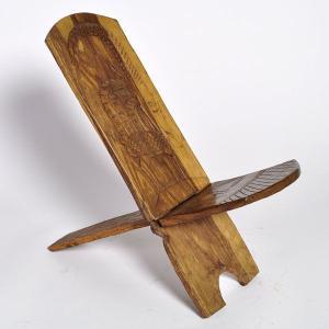 (マリンケ族2枚板 椅子)アフリカのインテリア、家具|afromode