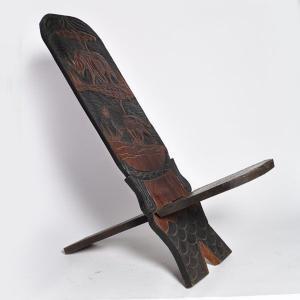 ◎(マリンケ族2枚板 椅子)アフリカのインテリア、家具|afromode