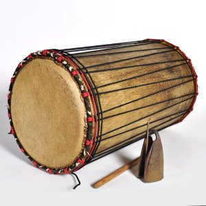 ◎≪アフリカの楽器≫デュンデュン(ドゥヌンバ) ギニア(鉄ベル付)NIMBA|afromode