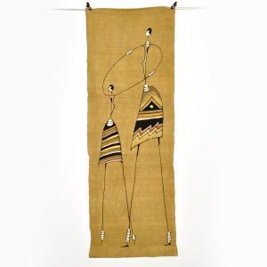 ●(タペストリー)インテリア ファブリック 生地 素材  泥染め 手織り 布(アフリカ)(あす楽対応)|afromode