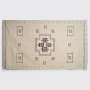 ◎アフリカ綿刺繍手織り布 テーブルクロス(ミニランチョンマット12枚付)|afromode