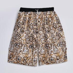 ○≪アフリカ エスニック ファッション 民族ボトムス≫コットンショートパンツ(柄F)|afromode