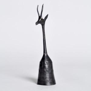 ●アニマルベル(アンティロープ) ブラック・アフリカ 雑貨 エスニック インテリア|afromode