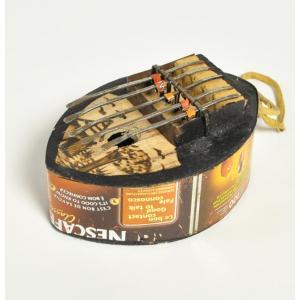 ●カリンバ トマト缶(楕円型)≪アフリカの楽器≫ブルキナファソ産|afromode