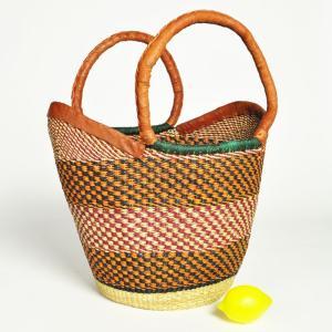 ◎ブルキナバスケット(アフリカ かご カゴバッグ マルシェバッグ)Variante|afromode