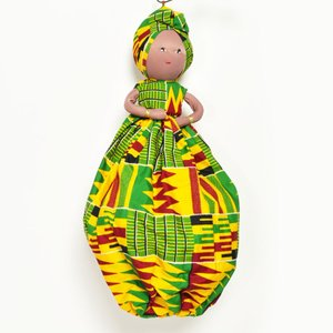 ●アフリカ マダム 人形(レジ袋 収納 )|afromode