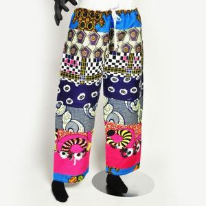 ○アフリカ パッチワーク コットン パンツ(ズボン エスニック ファッション 民族 ボトムス)|afromode