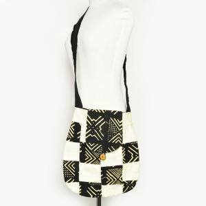 ○ショルダー バッグ 泥染め (ボゴラン コートジボワール製)|afromode