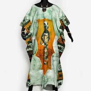○コットン ワンピース ≪アフリカン エスニック ファッション≫|afromode