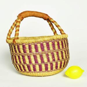 ≪Spring SALE!3/26まで≫◎ブルキナバスケット M(アフリカ かご ピクニックバスケット カゴバッグ)|afromode