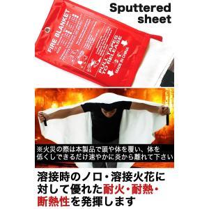 【スパッタシート】 溶接時のノロ・溶接火花に対して、優れた耐火性・耐熱性・断熱性を発揮します。 また...