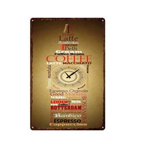 COFFEE コーヒー ガレージ エクステリア インテリア 壁飾り カフェ 看板 BAR バー アンティーク調 サインボード 30×20cm afterparts-co-jp