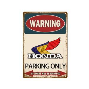 パーキング サインボード サインプレート 看板 WARNING ホンダ HONDA PARKING ONLY ホンダ HONDA専用 駐車場/ホンダ HONDAロゴ  20×30cm afterparts-co-jp