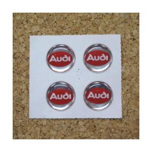 デコステッカー AUDI φ13mm 4枚1セット [AUDI13] afterparts-jp