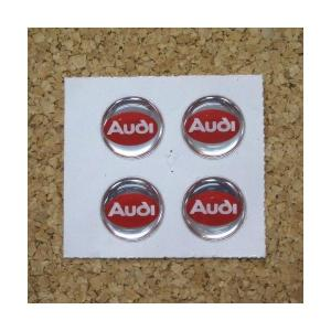 デコステッカー AUDI φ21mm 4枚1セット [AUDI21] afterparts-jp