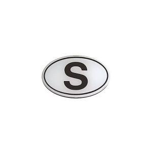 HerbertRichterプラスチックエンブレム Sマーク/ホワイト 77×52mm 1000円ぽっきり ポイント消化 送料無料|afterparts-jp