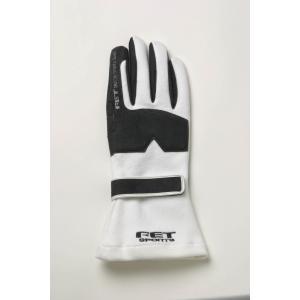FET sports/エフイーティースポーツ 3Dレーシンググローブ ホワイト×ブラック Sサイズ 71172001/FT3DGL1 afterparts-jp