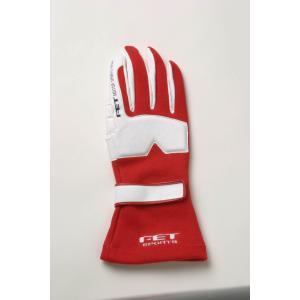 FET sports/エフイーティースポーツ 3Dレーシンググローブ レッド×ホワイト Sサイズ 71172010/FT3DGL10 afterparts-jp